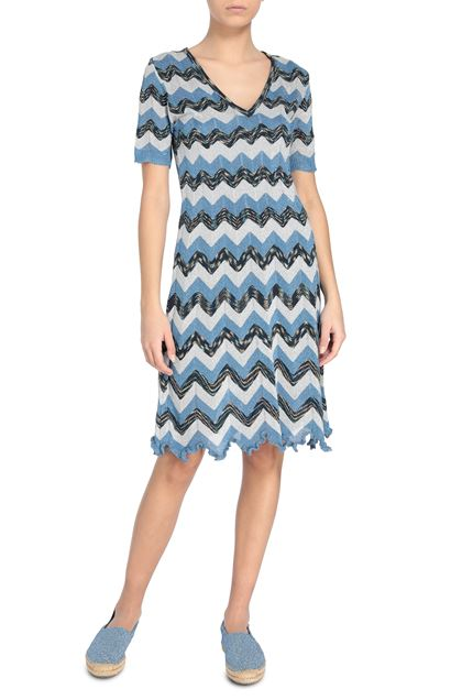 M MISSONI Dress Pastel blue Woman - Back