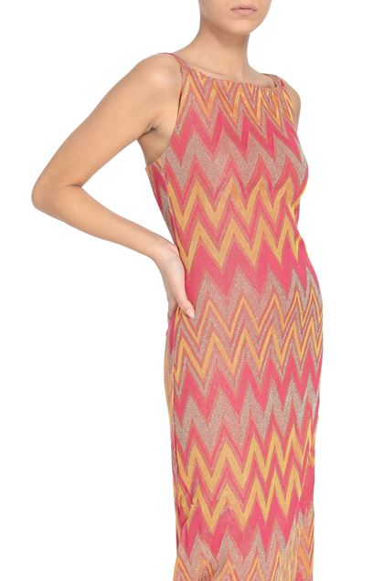 M MISSONI Long dress Orange Woman - Front