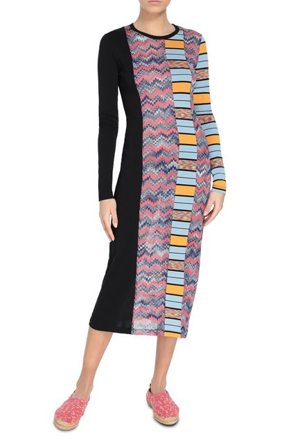 M MISSONI Long dress Black Woman - Back