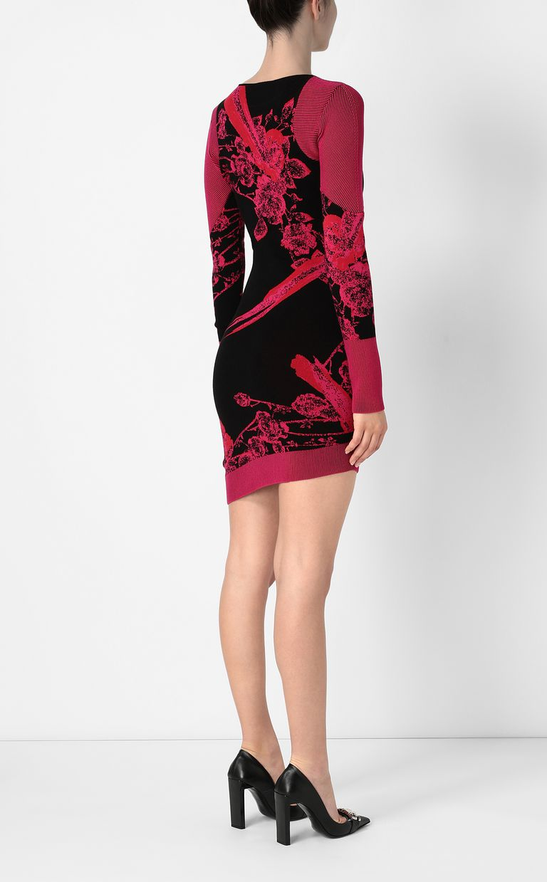 JUST CAVALLI Dress with Moving-Roses print Dress Woman a