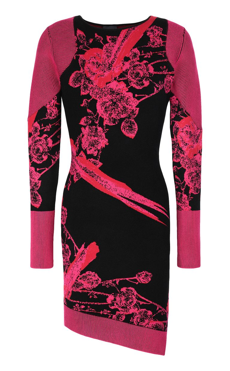 JUST CAVALLI Dress with Moving-Roses print Dress Woman f
