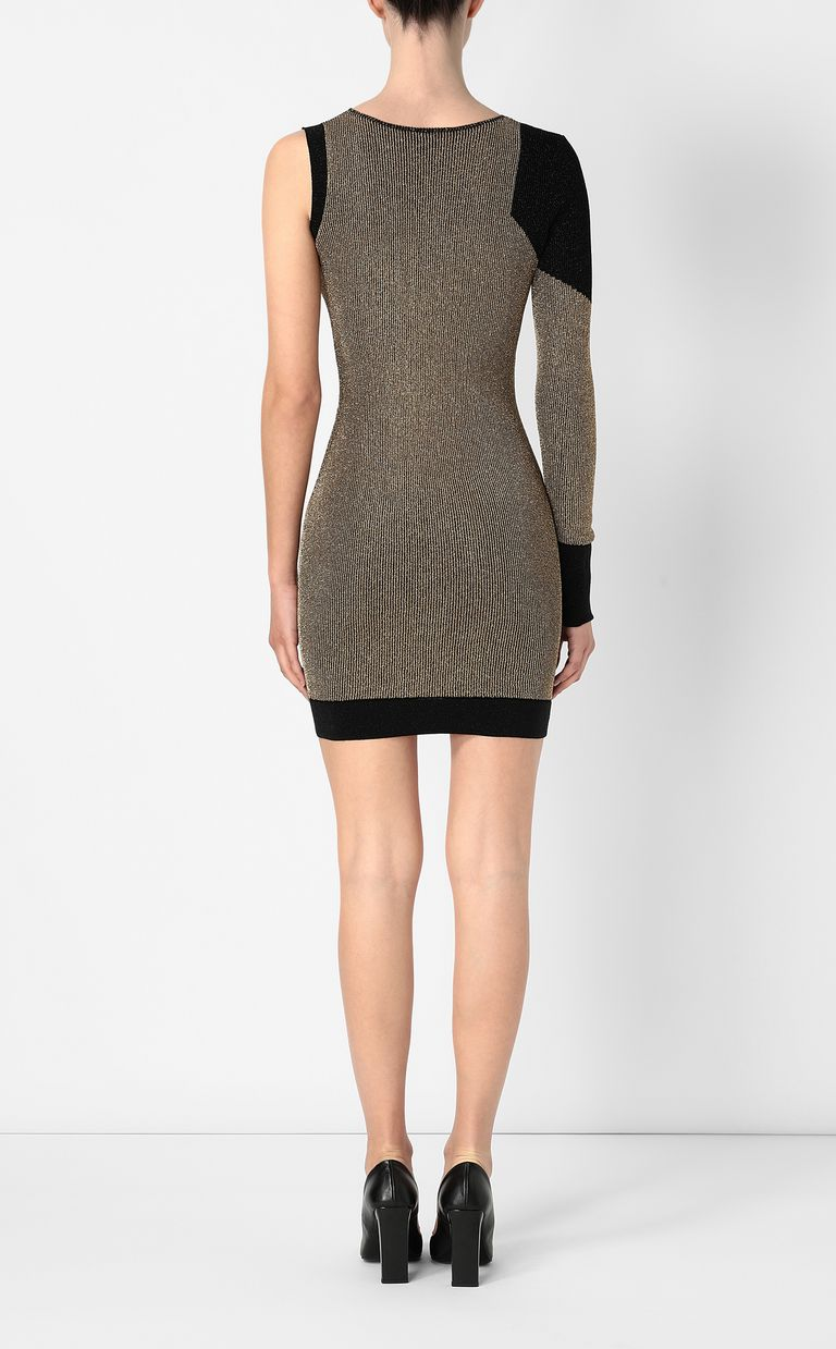 JUST CAVALLI Tight dress with gold details Dress Woman a