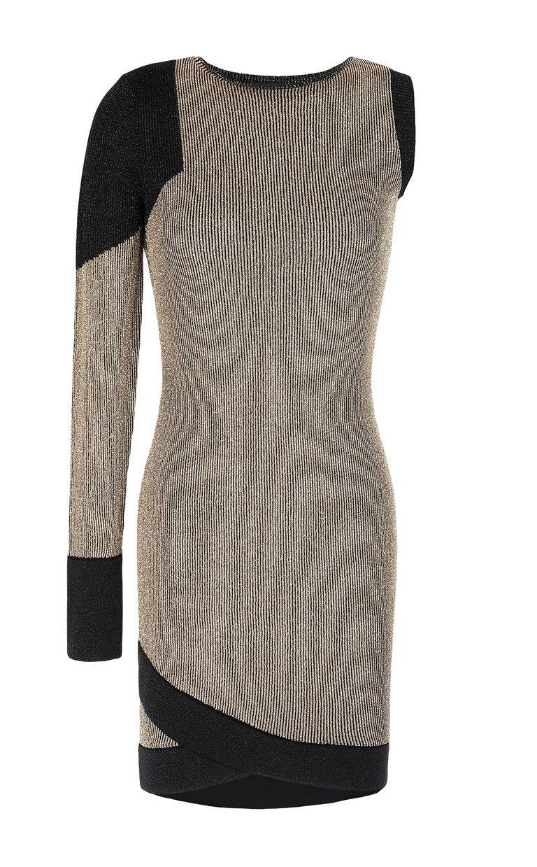 JUST CAVALLI Tight dress with gold details Dress Woman f
