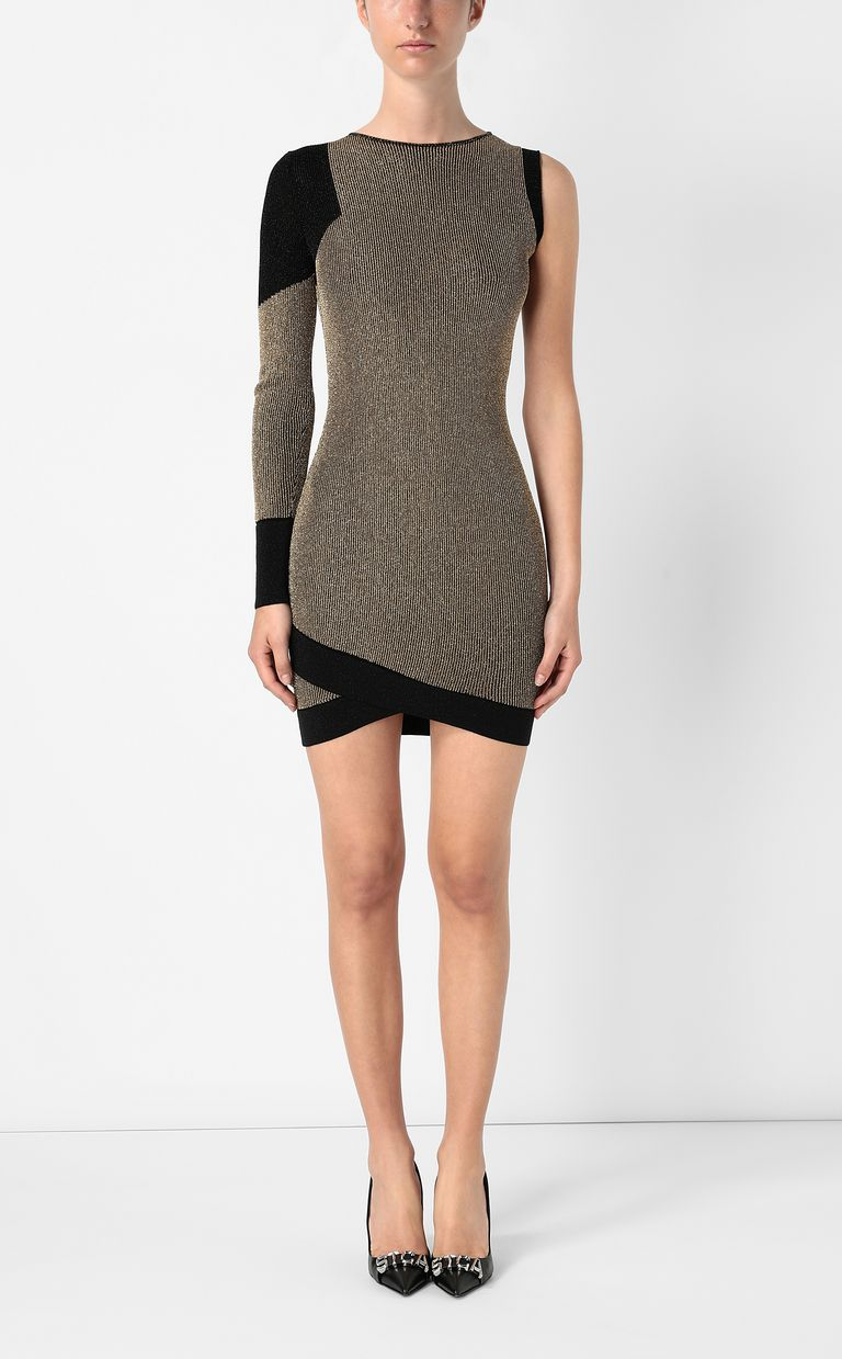 JUST CAVALLI Tight dress with gold details Dress Woman r