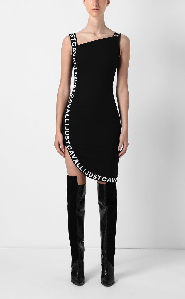 JUST CAVALLI Dress with logo tape Dress Woman r