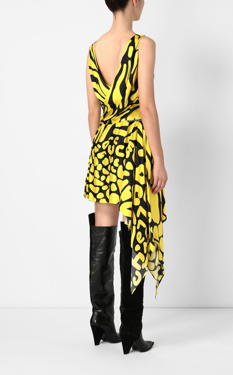 JUST CAVALLI Tribal-print asymmetrical dress Dress Woman a