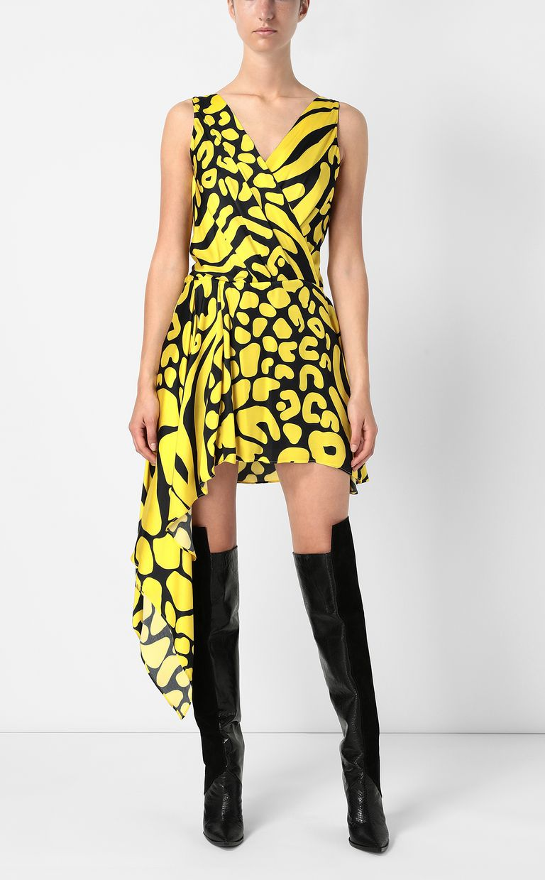 JUST CAVALLI Tribal-print asymmetrical dress Dress Woman d