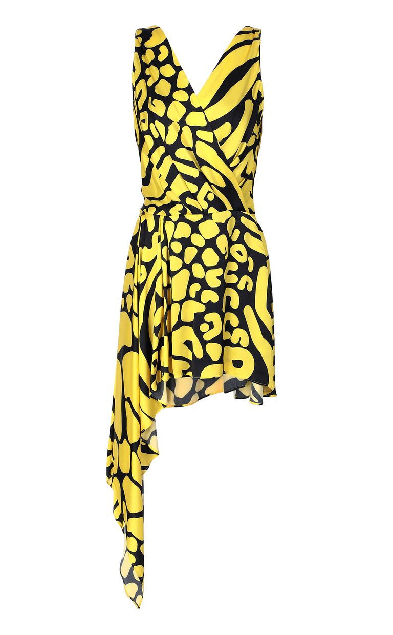 JUST CAVALLI Tribal-print asymmetrical dress Dress Woman f