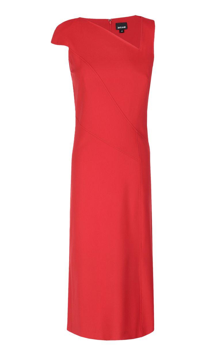 JUST CAVALLI Dress with an asymmetrical neckline Dress Woman f