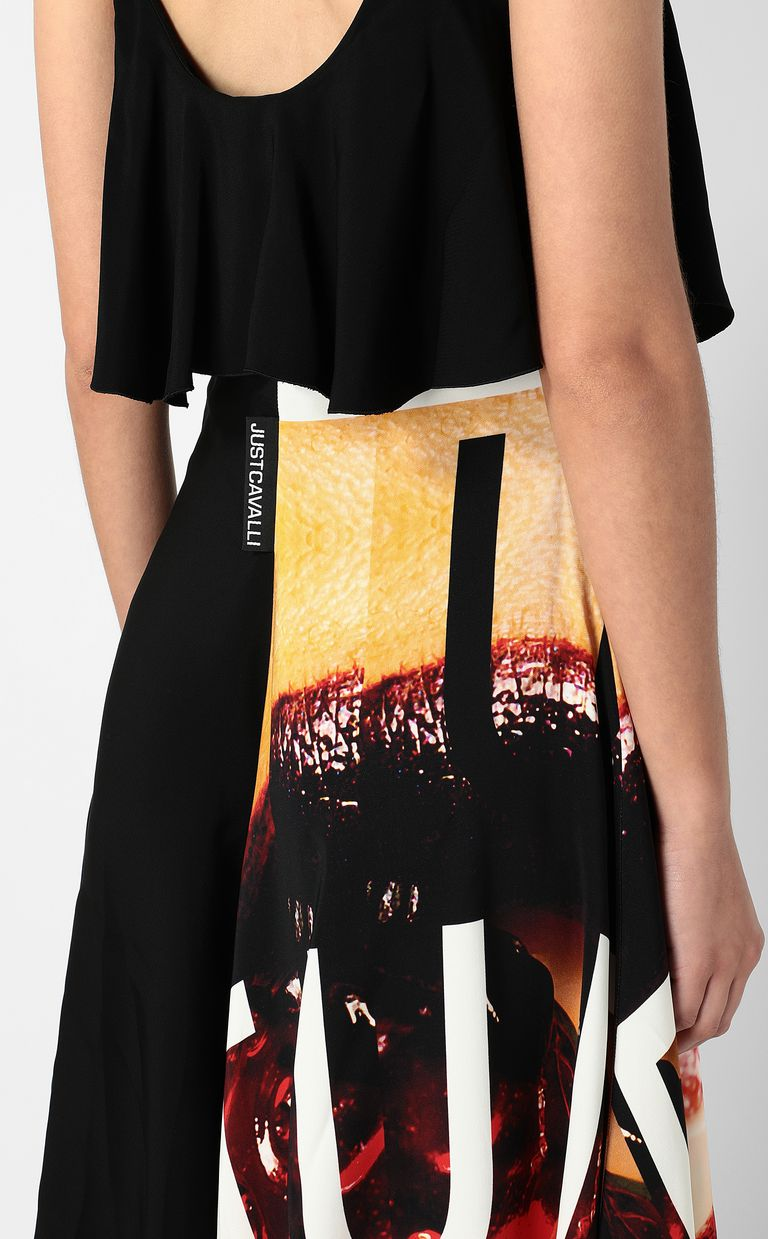 JUST CAVALLI Dress with Poster-Mouth print Long dress Woman e
