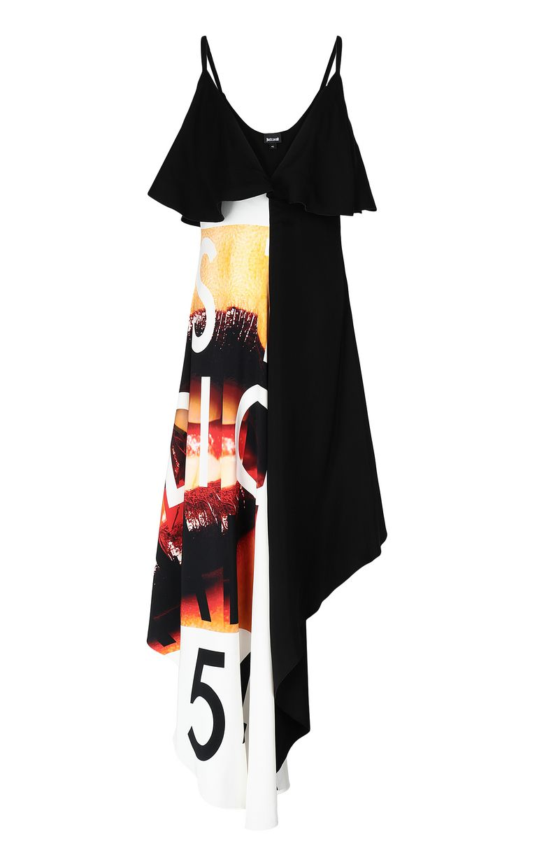 JUST CAVALLI Dress with Poster-Mouth print Long dress Woman f