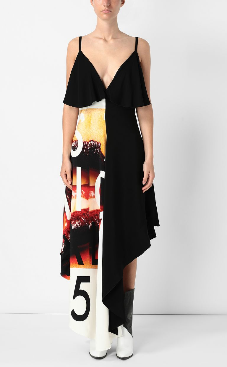 JUST CAVALLI Dress with Poster-Mouth print Long dress Woman r