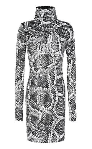 JUST CAVALLI Dress Woman Dress with Skin-Python print f
