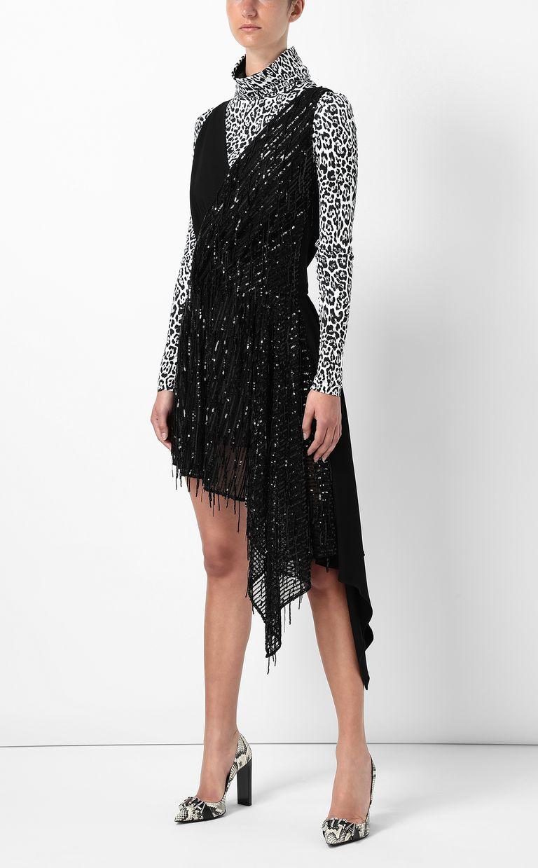 JUST CAVALLI Asymmetrical dress with sequins Dress Woman d