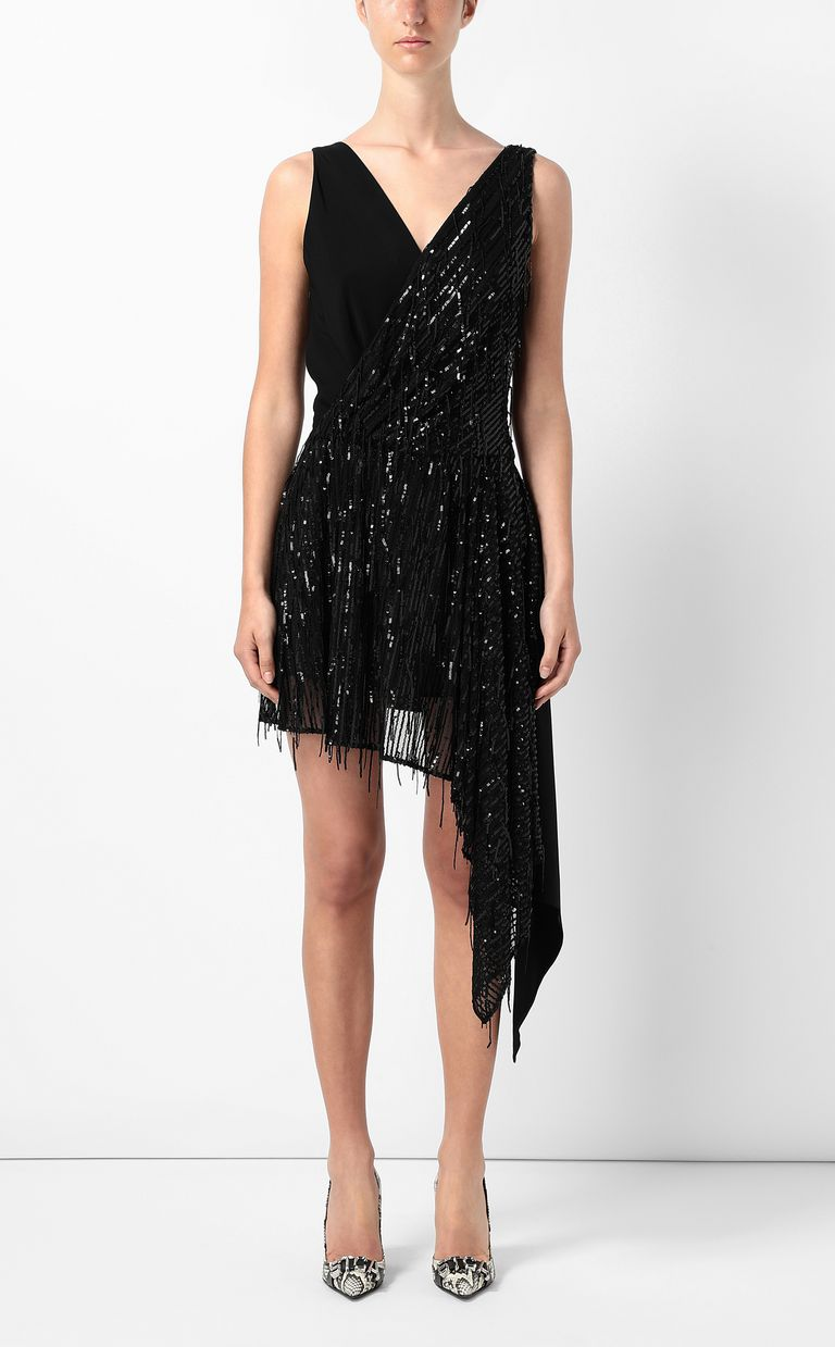 JUST CAVALLI Asymmetrical dress with sequins Dress Woman r