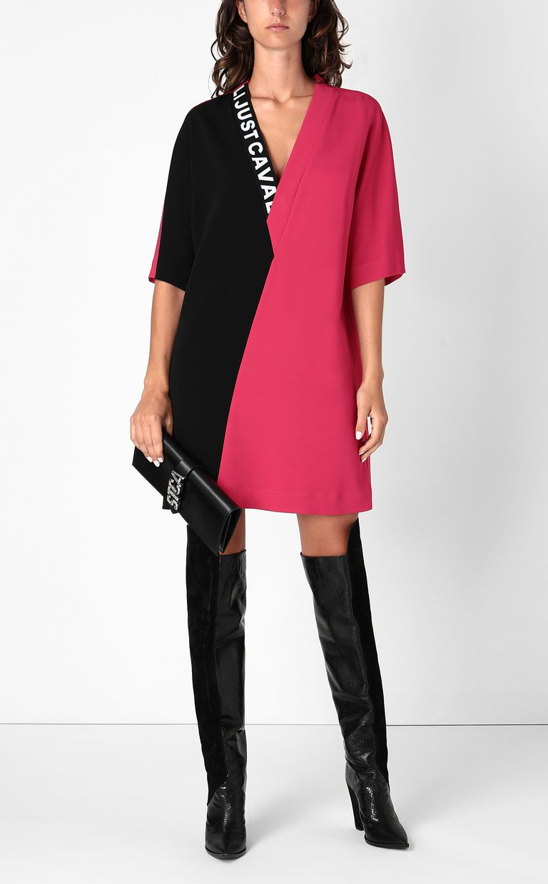 JUST CAVALLI Tunic dress with logo tape Dress Woman d