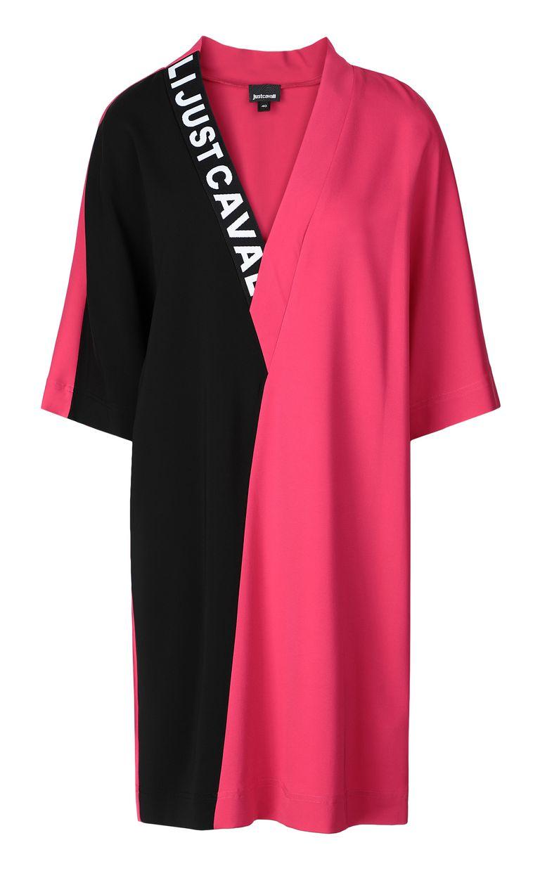 JUST CAVALLI Tunic dress with logo tape Dress Woman f