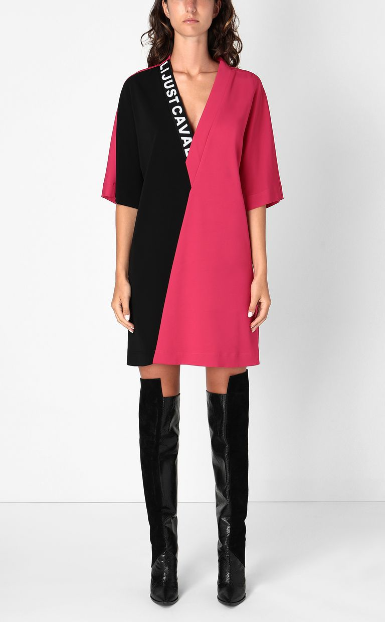 JUST CAVALLI Tunic dress with logo tape Dress Woman r