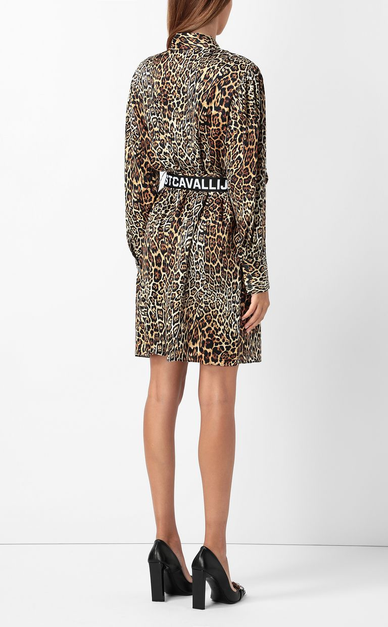 JUST CAVALLI Dancing-Leo-print dress Dress Woman a