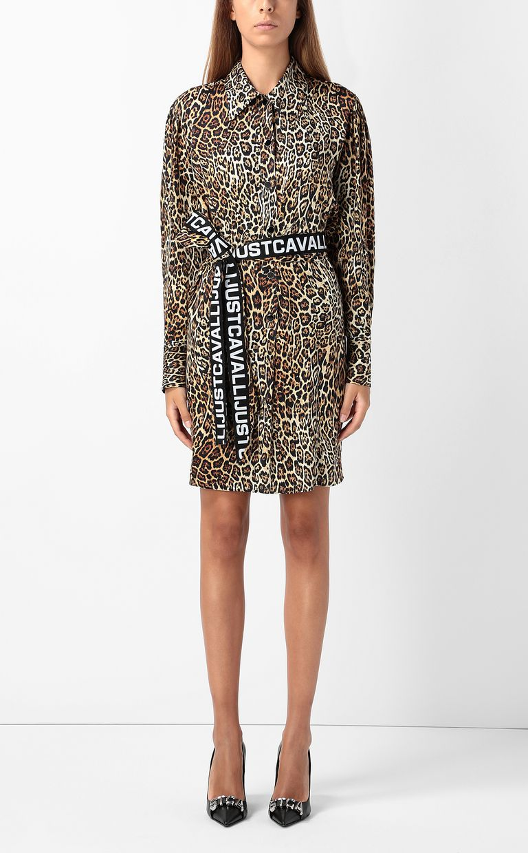 JUST CAVALLI Dancing-Leo-print dress Dress Woman r