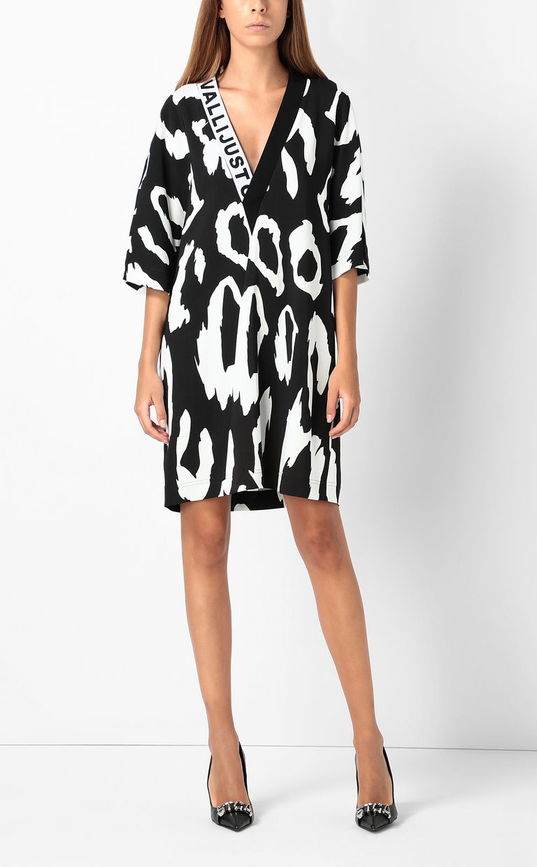 JUST CAVALLI Tunic dress with Macro-Leo print Dress Woman d