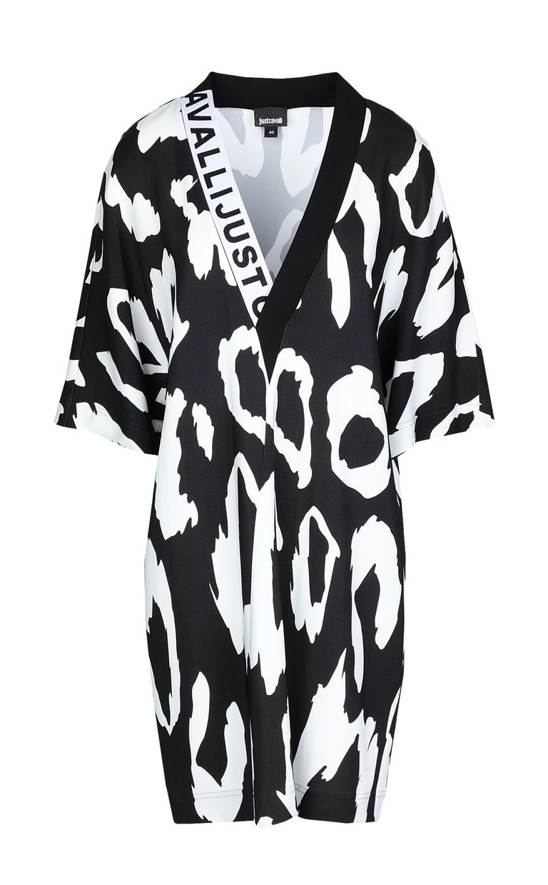 JUST CAVALLI Tunic dress with Macro-Leo print Dress Woman f