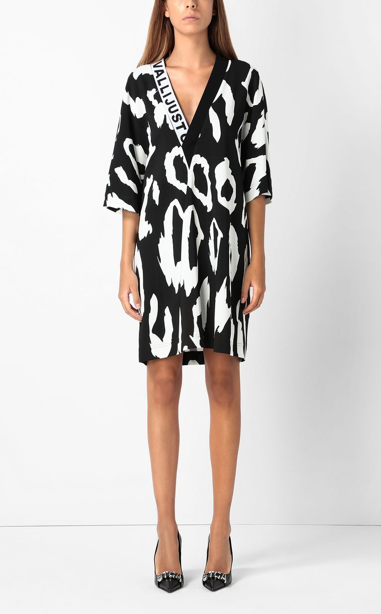 JUST CAVALLI Tunic dress with Macro-Leo print Dress Woman r