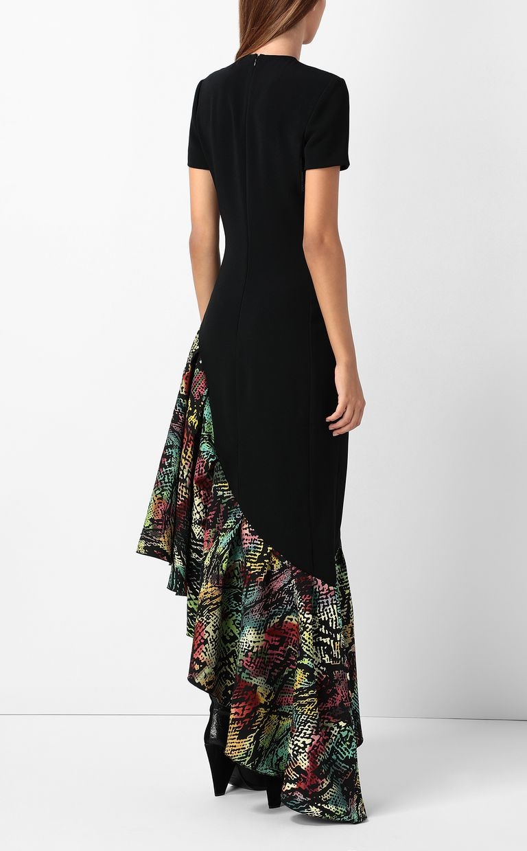 JUST CAVALLI Dress with Chameleon-print ruffle Long dress Woman a