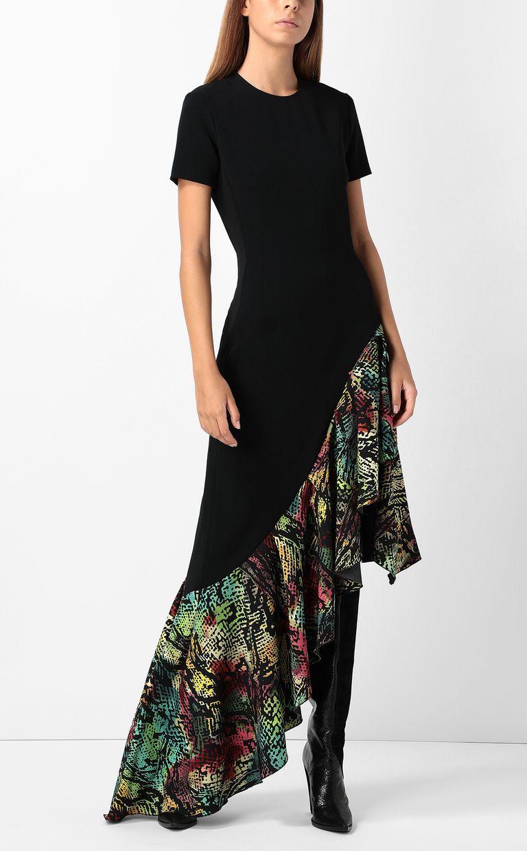 JUST CAVALLI Dress with Chameleon-print ruffle Long dress Woman d