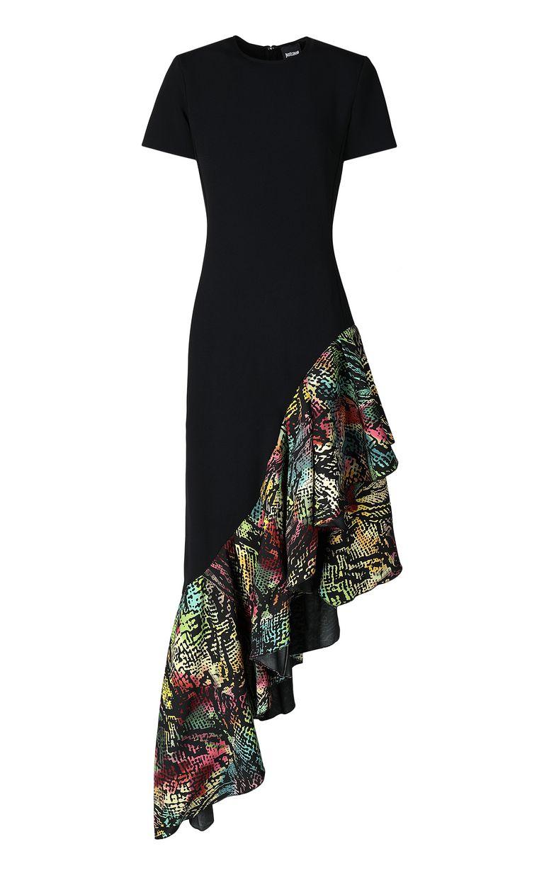 JUST CAVALLI Dress with Chameleon-print ruffle Long dress Woman f