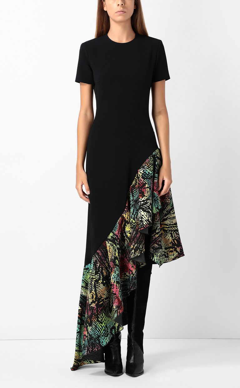 JUST CAVALLI Dress with Chameleon-print ruffle Long dress Woman r
