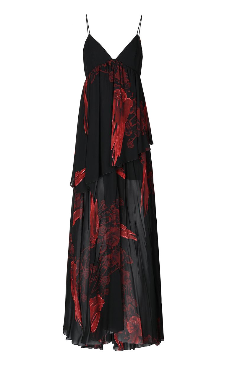 JUST CAVALLI Dress with Moving-Roses print Long dress Woman f