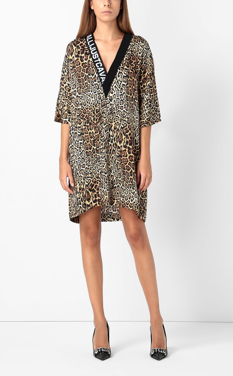JUST CAVALLI Tunic dress with Dancing-Leo print Dress Woman d