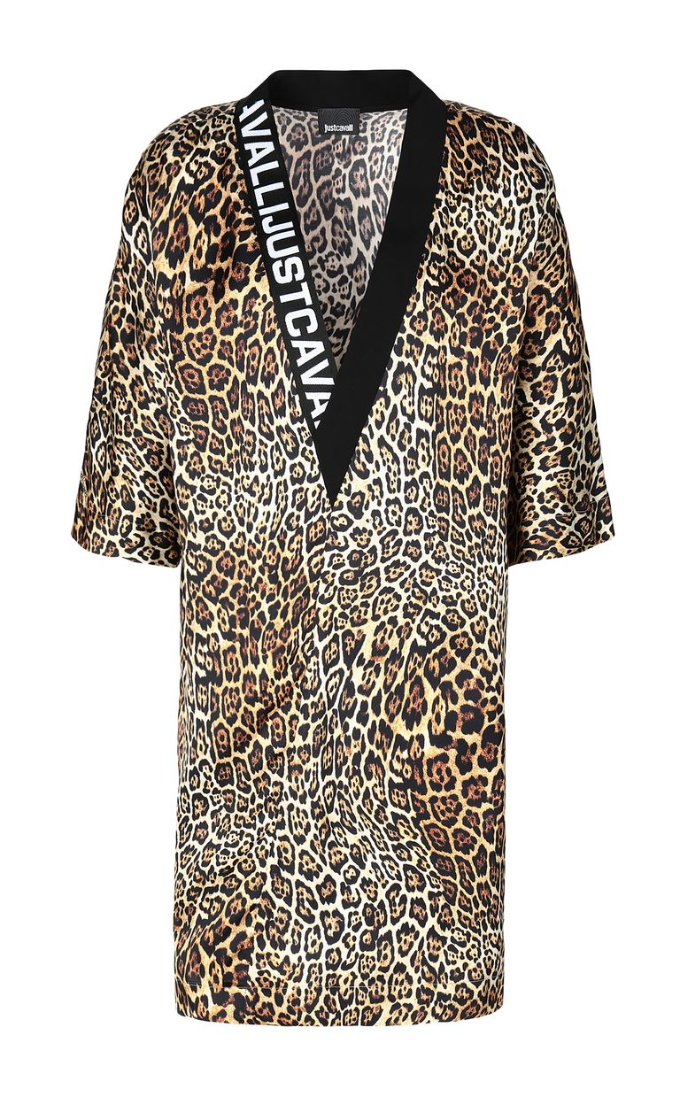 JUST CAVALLI Tunic dress with Dancing-Leo print Dress Woman f
