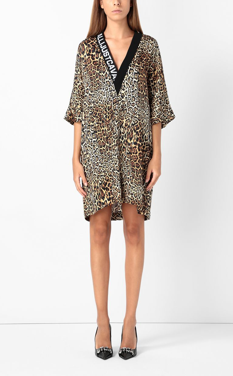 JUST CAVALLI Tunic dress with Dancing-Leo print Dress Woman r