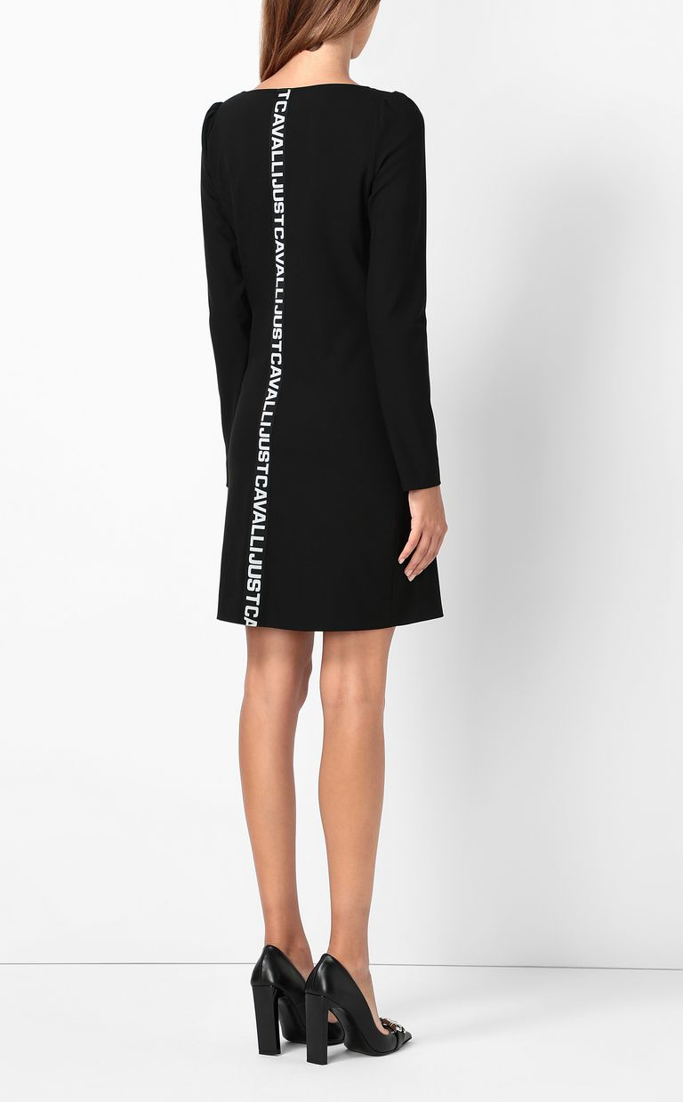 JUST CAVALLI Short dress with asymmetrical neck Dress Woman a