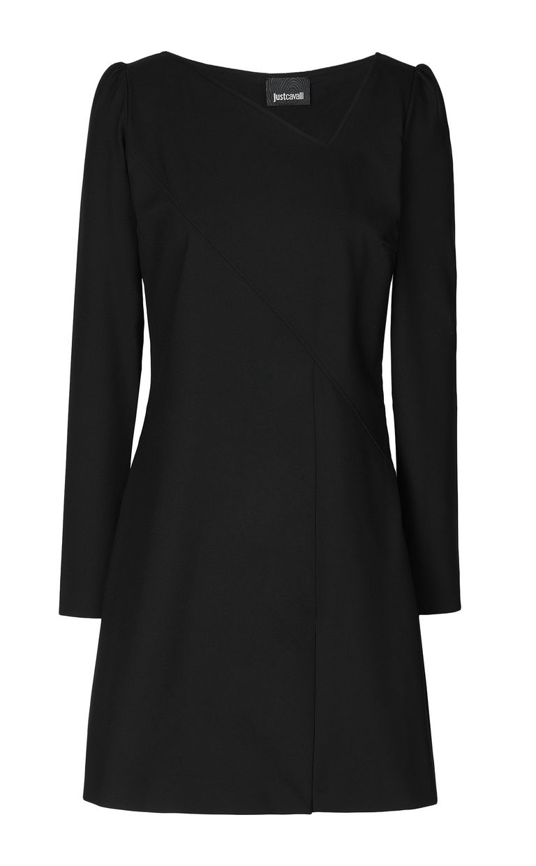 JUST CAVALLI Short dress with asymmetrical neck Dress Woman f