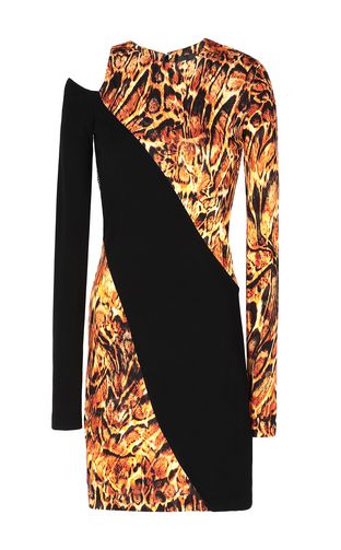 JUST CAVALLI Dress Woman Dress with animal-print ruffles f