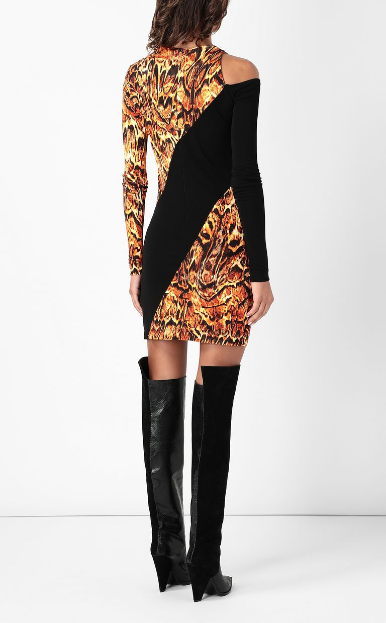 JUST CAVALLI Dress with Siberian-Wolf print Dress Woman a