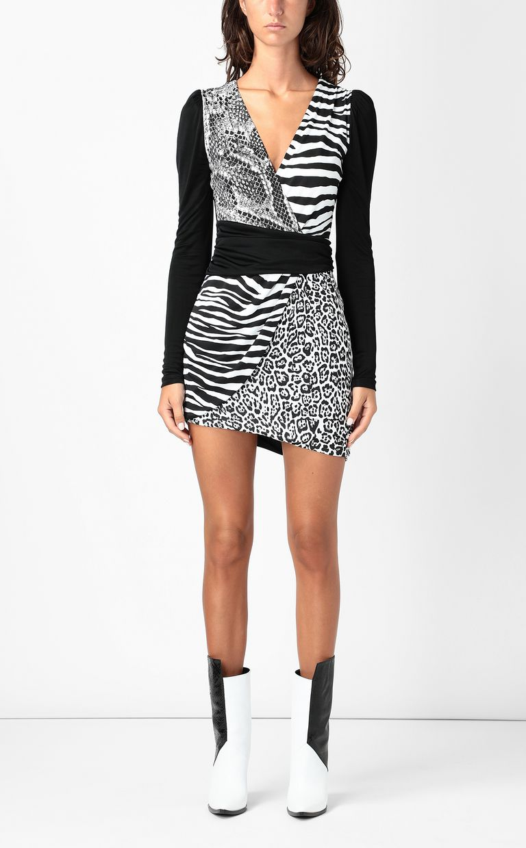 JUST CAVALLI Dress with animal print Dress Woman r