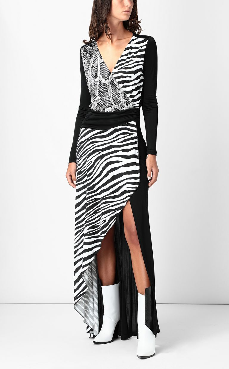 JUST CAVALLI Dress with Animal-Mix print Long dress Woman d