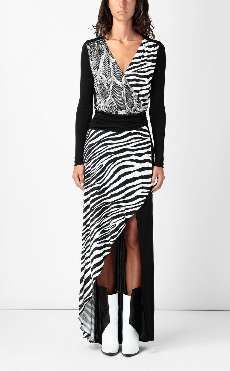 JUST CAVALLI Dress with Animal-Mix print Long dress Woman r