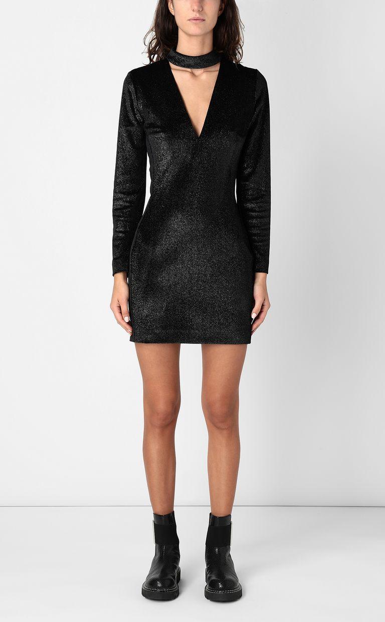 JUST CAVALLI Dress in lurex velvet Dress Woman r