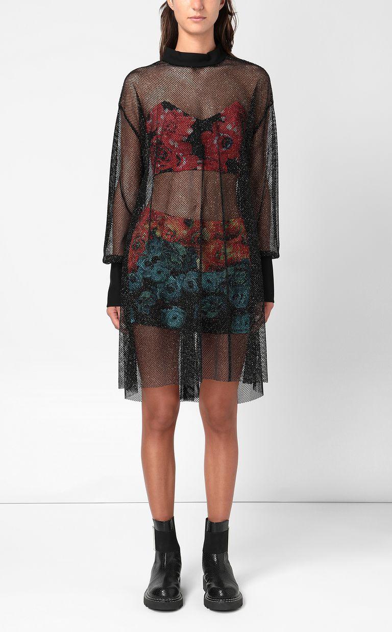 JUST CAVALLI Flower-Glitch short dress Dress Woman r