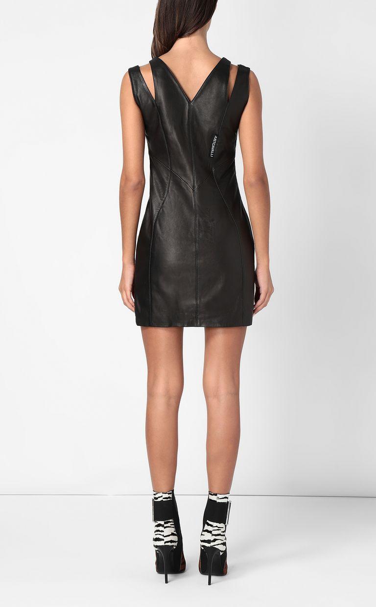 JUST CAVALLI Leather dress Short dress Woman a