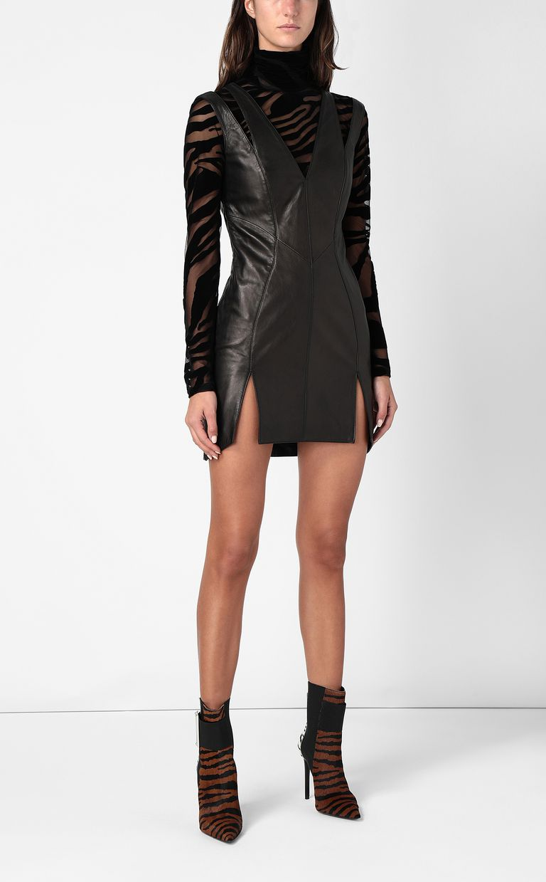 JUST CAVALLI Leather dress Short dress Woman d