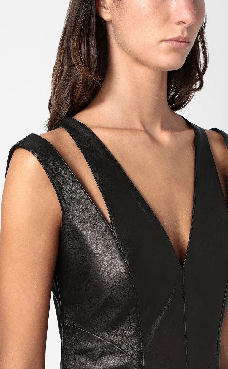 JUST CAVALLI Leather dress Short dress Woman e