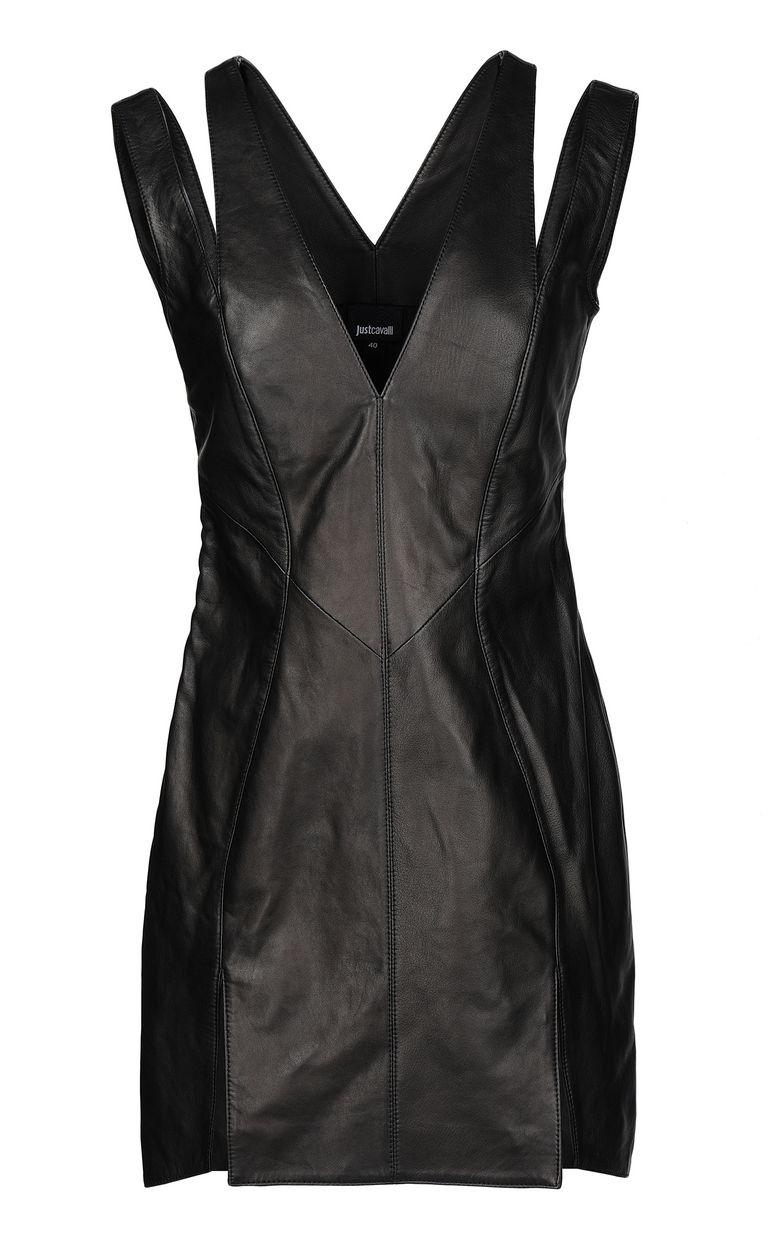 JUST CAVALLI Leather dress Short dress Woman f
