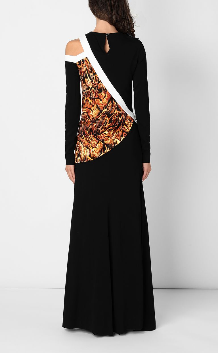 JUST CAVALLI Dress with Siberian-Wolf print Long dress Woman a