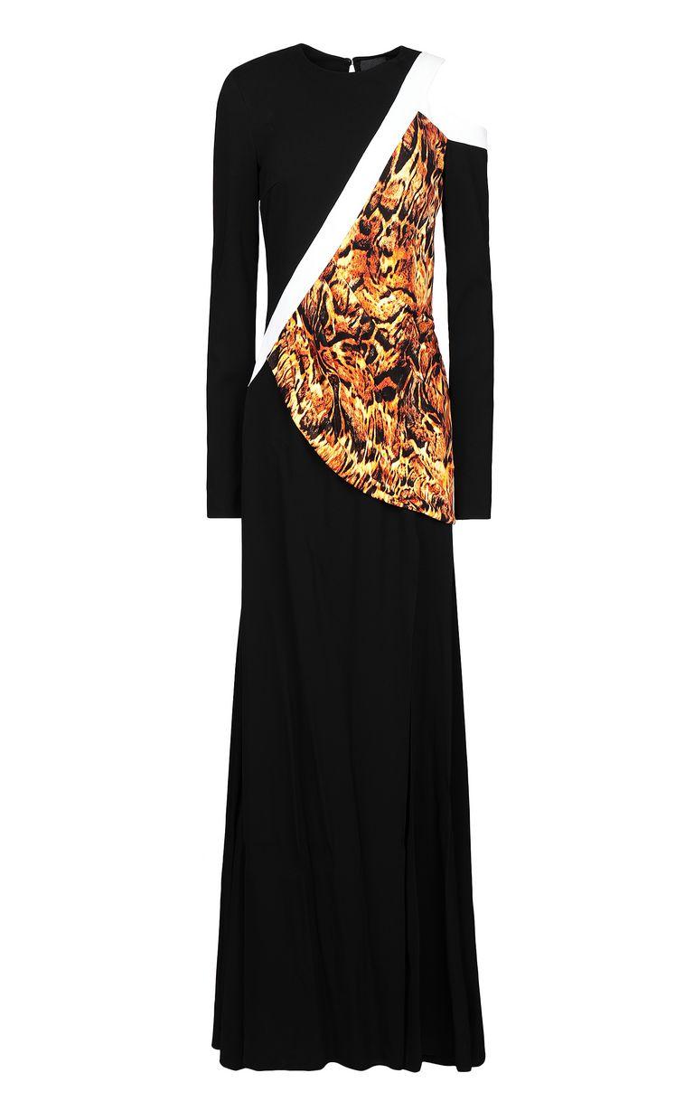 JUST CAVALLI Dress with Siberian-Wolf print Long dress Woman f